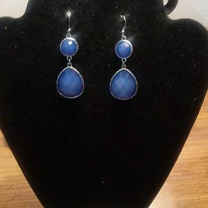 Blue gem earrings